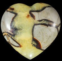 "3.5"" Polished Septarian ""Heart""  For Sale, #54695"