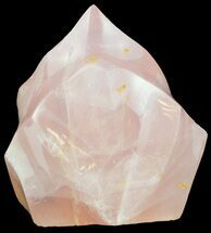 "Buy 4.3"" Tall Polished Rose Quartz ""Flame"" Sculpture  - #54949"