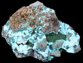 "3.8"" Chrysocolla and Drusy Malachite - Congo For Sale, #54986"