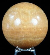 "Buy 2.75"" Polished, Orange Calcite Sphere - Madagascar - #55093"