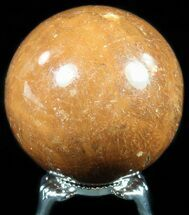 "Buy 1.9"" Polished, Orange Calcite Sphere - Madagascar - #55099"