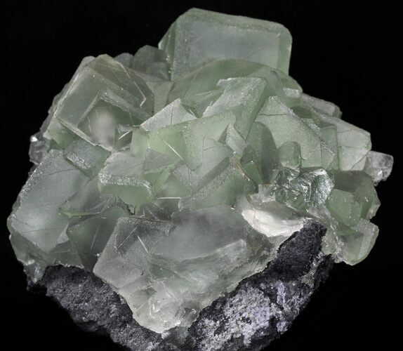 "6.7"" Cubic, Green Fluorite (Dodecahedral Edges) - China"