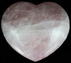 "4.1"" Polished Rose Quartz Heart - Madagascar For Sale, #56978"