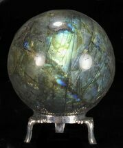 "Buy 2.45"" Flashy Labradorite Sphere - With Nickel Plated Stand - #53566"