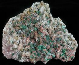 "3.3"" Malachite, Selenite and Ferroan Dolomite Association - Morocco For Sale, #57368"