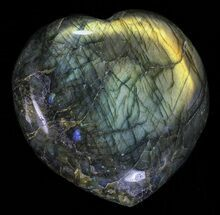 "Buy 3.4"" Flashy Polished Labradorite Heart - #58858"