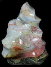 "Buy 8.7"" Ocean Jasper ""Flame"" Sculpture - Madagascar - #59422"