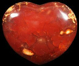 "2.4"" Colorful Carnelian Agate Heart For Sale, #59522"