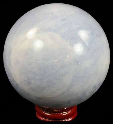 "3.4"" Polished Blue Calcite Sphere - Madagascar"