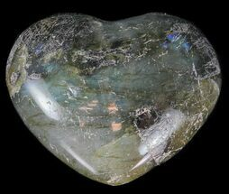 Small Polished Labradorite Hearts - 1 Piece For Sale, #60353