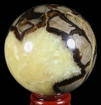 "2.5"" Polished Septarian Sphere - Madagascar For Sale, #60527"