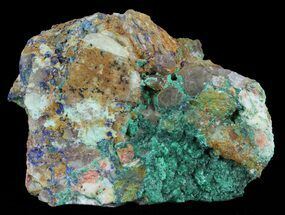 Malachite, Azurite & Barite - Fossils For Sale - #60888