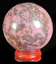 "Buy 2.1"" Polished Rhodonite Sphere - Madagascar - #61210"