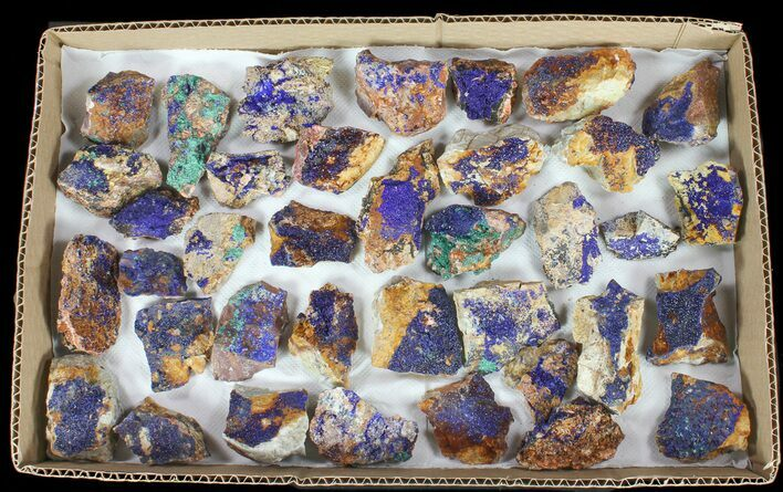 Sparkling, Drusy Azurite & Malachite Wholesale Lot -37 Pieces