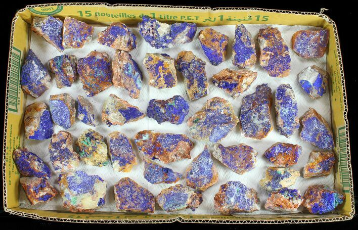 Sparkling, Drusy Azurite (Wholesale Lot) - 44 Pieces