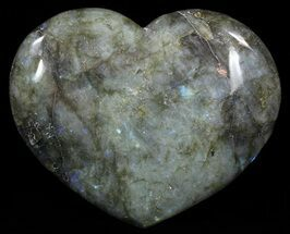 "Buy 4.5"" Flashy Polished Labradorite Heart - #62482"