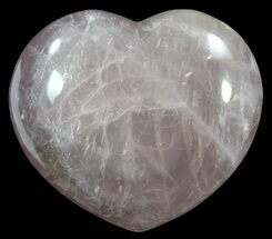 "Buy 4.4"" Polished Rose Quartz Heart - Madagascar - #62488"