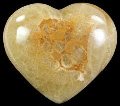 "3"" Polished, Brown Calcite Heart - Madagascar For Sale, #62537"