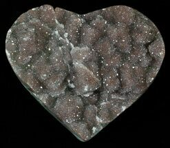 "3.6"" Polished, Amethyst Heart Filled - Uruguay For Sale, #62837"