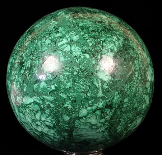 "Huge, 6"" Polished Malachite Sphere - Reduced Price"