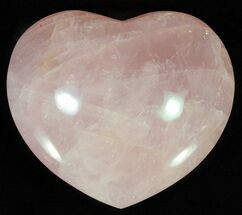 "4.2"" Polished Rose Quartz Heart - Madagascar For Sale, #63017"