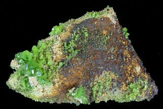 Pyromorphite & Quartz - Fossils For Sale - #63708