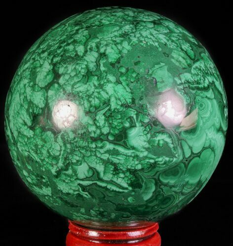 "2.5"" Polished Malachite Sphere - Katanga Province, Congo"