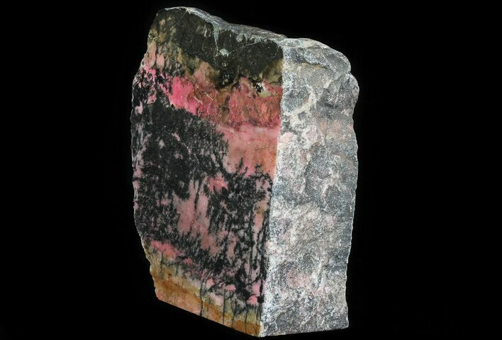 "7.4"" Polished Rhodonite Section (Free-Standing) - Australia"