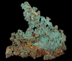 Copper & Malachite - Fossils For Sale - #64368