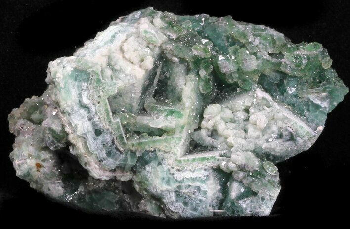 "2.8"" Green Fluorite & Druzy Quartz - Unaweep Canyon, Colorado"