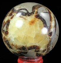 "2.5"" Polished Septarian Sphere - Madagascar For Sale, #67865"