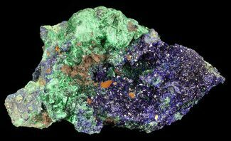 "Buy 2.5"" Sparkling Azurite Crystal Cluster with Malachite - Laos - #69718"