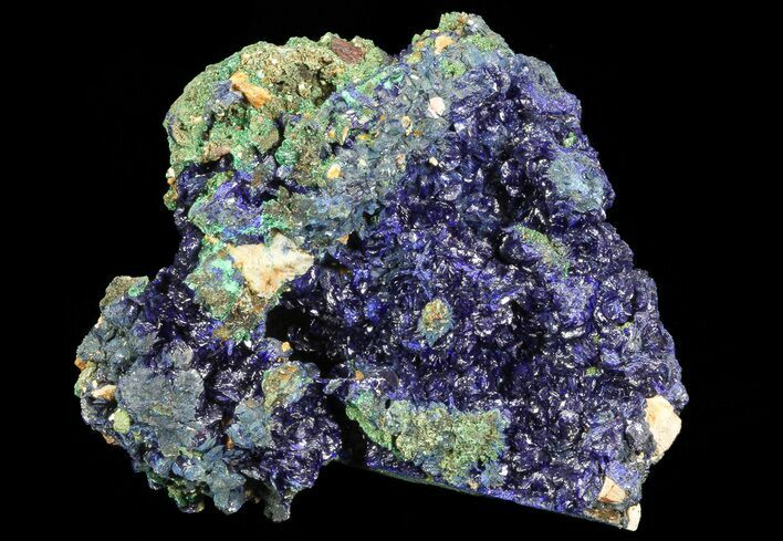 "3"" Sparkling Azurite Crystal Cluster with Malachite - Laos"