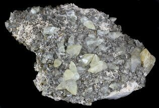 Calcite, Chalcopyrite & Dolomite - Fossils For Sale - #35931