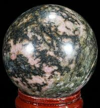 "1.5"" Polished Rhodonite Sphere - Madagascar For Sale, #71561"