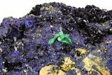 "8.3"" Azurite Crystal Cluster with Fibrous Malachite - Laos - #50779-5"