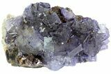 "3.9"" Cubic Fluorite Crystals on Sphalerite - Elmwood Mine - #71944-1"