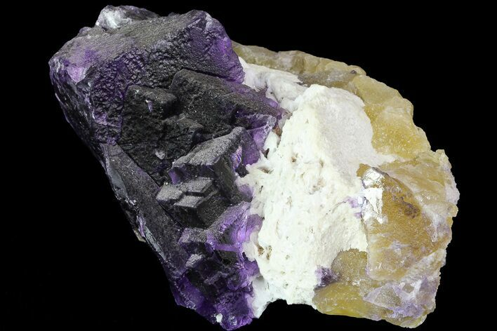 "5.5"" Cubic Fluorite on Bladed Barite - Cave-in-Rock, Illinois"