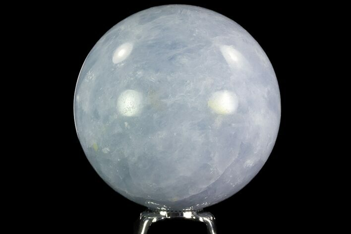 "3.3"" Polished Blue Calcite Sphere - Madagascar"
