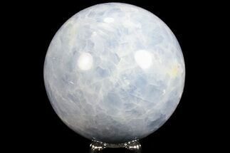 "3.2"" Polished Blue Calcite Sphere - Madagascar For Sale, #74450"