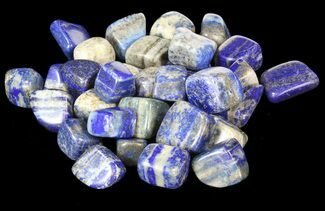 Bulk Polished Lapis Lazuli - 8oz. (~ 25pc.) For Sale, #75686