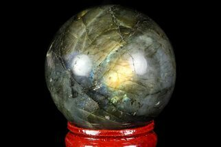 "Buy 1.6"" Flashy Labradorite Sphere - Great Color Play - #74608"