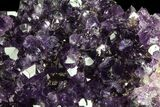 "3.5"" Dark Purple Amethyst Cluster On Wood Base - #76686-2"