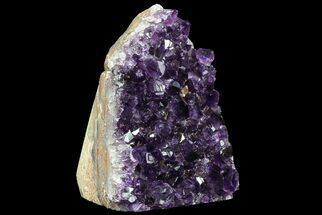 "4.9"" Dark Purple Amethyst Cluster On Wood Base For Sale, #76700"
