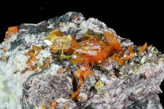"2.2"" Wulfenite Crystal Cluster - Rowley Mine, AZ For Sale, #76853"