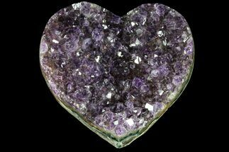 "Buy 3.5"" Purple Amethyst Crystal Heart - Uruguay - #76786"