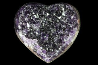 "Buy 3.2"" Purple Amethyst Crystal Heart - Uruguay - #76792"