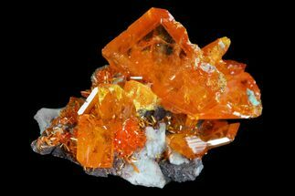".8"" Wulfenite Crystal Cluster - Rowley Mine, AZ For Sale, #76829"