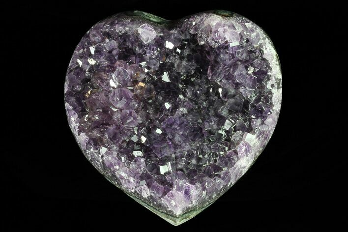 "3.9"" Purple Amethyst Crystal Heart - Uruguay"