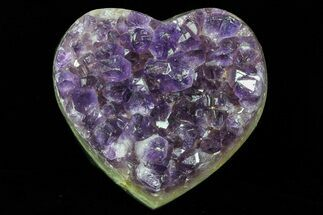 "3.3"" Purple Amethyst Crystal Heart - Uruguay For Sale, #76805"